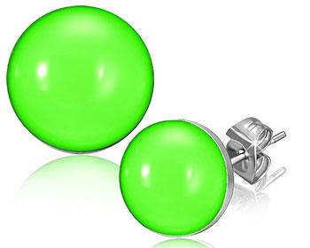Gröna stiftörhängen.