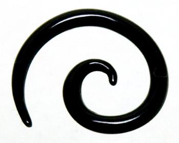 1,6 mm töjningspiercing i svart akryl.