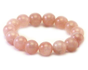 Jadearmband i 12mm rosa jadepärlor.