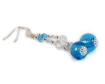 Långa snygga örhängen att bära till vardags eller till fest. Silverkrok.