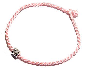 Billigt rosa armband. Längd 16-17 cm.