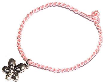 Rosa armband. Längd 16-17 cm.
