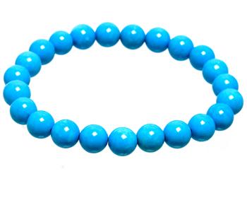 Armband i blåa turkoser. Stretchtråd.