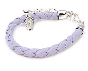 Flätat lila armband från Dazzling.