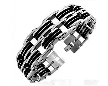 Armband för män i kirurgiskt stål. Längd ca. 22 cm.