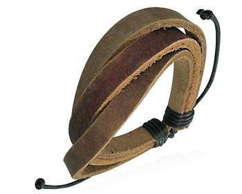Brunt läderarmband.