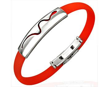 Armband online i stål och gummi.