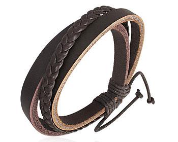 Läderarmband.