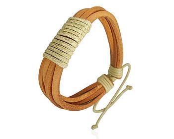 Armband i läder på nätet.