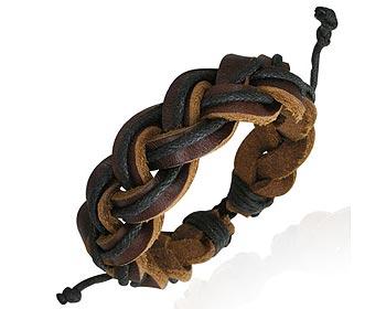 Flätat armband i läder.