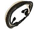Läder- och trådarmband.