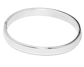Armband i stål. Bredd cirka 8 mm, omkrets cirka 18 cm.