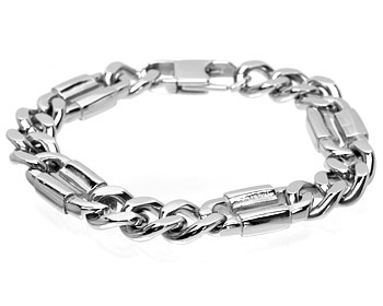 Armband till kille i stål. Bredd cirka 12 mm.