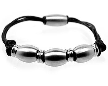 Magnetarmband på nätet. magnetlås, läder och ståldetaljer. Tjocklek cirka 13 mm.