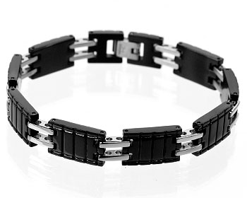 Armband på nätet i stål. Bredd 11 mm.