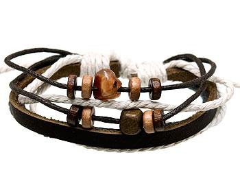 Läderarmband. Varierbar längd.