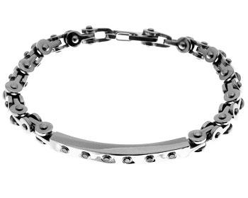 Fint armband i stål. Bredd 6 mm.