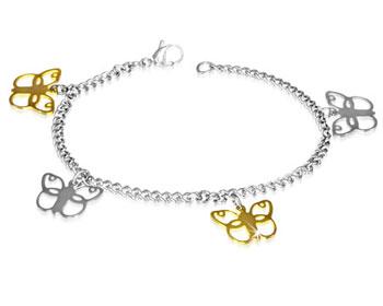 Armband med fjärilsutsmyckningar.
