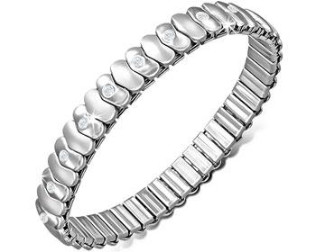 Töjbart armband i stål.