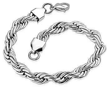 Stålarmband. Bredd cirka 8 mm, längd cirka 22 cm.