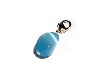 Opalberlock gjort med en blå opal. Opalstorlek ca 12x7mm.