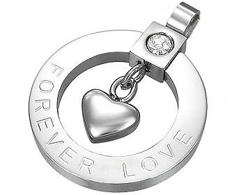 """Hänge med text. """"FOREVER LOVE""""."""