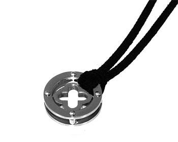 Halsband i stål.