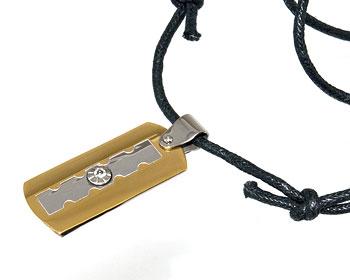 Stålhalsband med rem