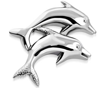 Delfinhänge. 34x25 mm.