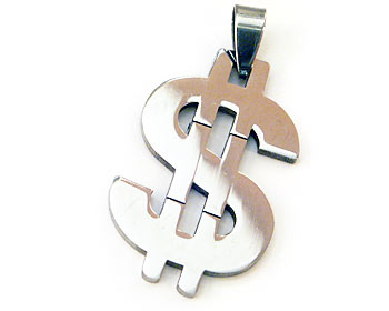 Dollarhänge. Hänget är cirka 3.5x2.5 cm.