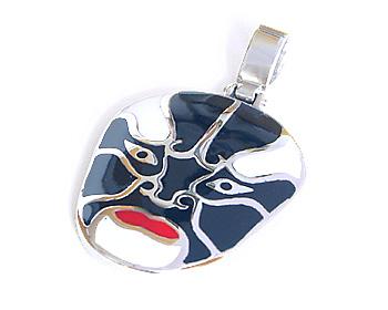 Halsband i kirurgiskt stål med kulkedja. Storlek cirka 2,5x3,2cm.