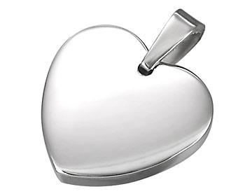 Stålhjärta gjort i kirurgiskt stål. Storlek ca 2x2cm.