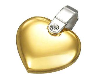 Hjärta i stål. Bredd 1,6 cm.