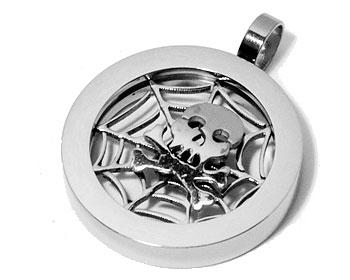 Hänge i stål. Mått cirka 23 mm i diameter.