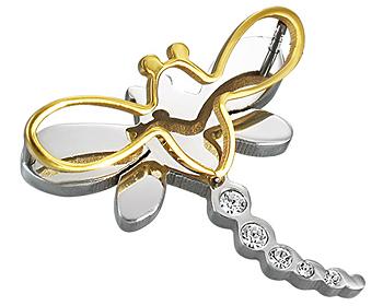 Hänge till halsband. Mått cirka 3 x 2,8 cm.