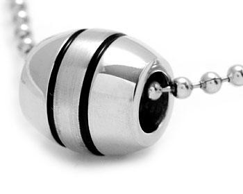 Billigt stålhalsband i kirurgiskt stål. Hängets mått är cirka 12x11 mm. Inklusive kulkedja.