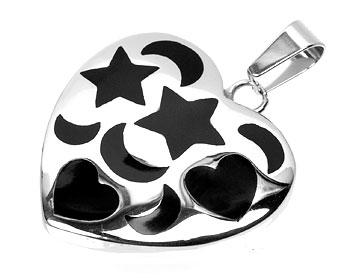 Hjärtformat smycke.
