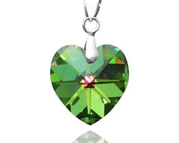 Swarovski hjärta gjort i silver och med en swarovski kristall. Storlek ca 1,5cm. OBS! Utan kedja.