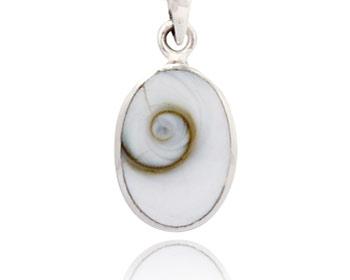 """Silverhänge gjort i silver och med """"Shivas öga"""". Storlek ca 1,5 x 1,0 cm. OBS! Utan kedja."""