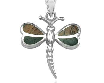 Silverhänge gjort i 925 silver och trä. Storlek ca 1,5 x 1,6 cm. OBS! Utan kedja.
