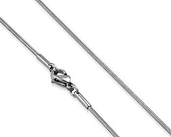 Tunn halskedja i stål. 62 cm x 0,9 mm.