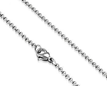2 mm halskedja i stål. 45 cm x 2 mm.