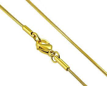 Guldfärgad halskedja. 45 cm x 1 mm.