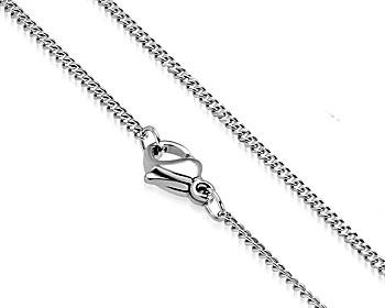 Smal halskedja i stål. Mått cirka 50 cm x 1,5 mm.