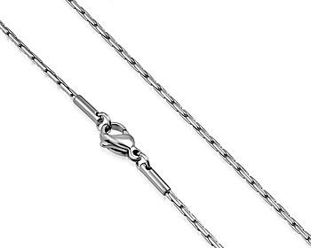 Lång halskedja i stål. Mått cirka 62 cm x 1,7 mm.