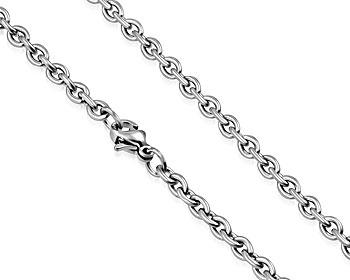 Grov halskedja i stål. Mått cirka 62 cm x 6 mm.