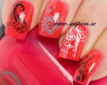 Fina dekaler för naglar.