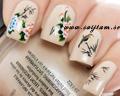 Blomdekaler för naglar.