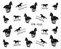 Vattendekaler med svarta hästar.