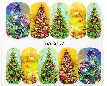Nageldekaler med julgranar.